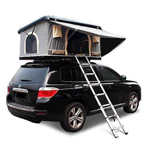 Dachzelt ABS Hard Shell Wasserdicht Auto Dachzelt Automatische Outdoor Offroad, Geeignet Für 2-3 Erwachsene, Mit Verlängerter Leiter Und Solarzelt Licht