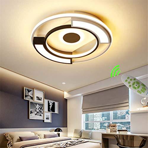 Lámpara de Techo LED Lámpara de Dormitorio, Luz de Techo Regulable Diseño de Pantalla de Metal Acrílico, Lámpara de Dormitorio Para Habitación Infantil con Control Remoto, Iluminación Interior