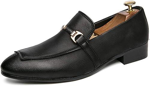 Chaussures Oxford Mode Durable Durable Durable Oxfords pour Hommes Mocassins Chaussures Slip on Style Microfibre en Cuir Motif Cousu avec Couleurs Assorties Anneau en Métal Décor Léger Pointe Pointe Mode Durable 3dd