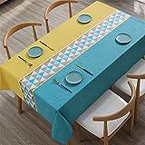 Rectangular PVC Impermeable Y A Prueba De Aceite Anti-Escaldado Mantel A Cuadros Hogar Hotel Restaurante Café Mantel Camino De Mesa Mantel Cuadrado 140x220cm