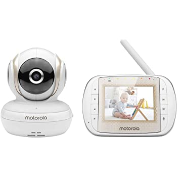 """Motorola MBP30A Video Baby Monitor with 3"""" Handheld Parent Unit and Remote Pan Scan"""