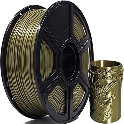 FLASHFORGE PLA 3D Filament Druckmaterialien 1.75mm Antique Gold - Dimensionale Genauigkeit +/- 0.02m - 1 Kg Spule - 3D Drucker