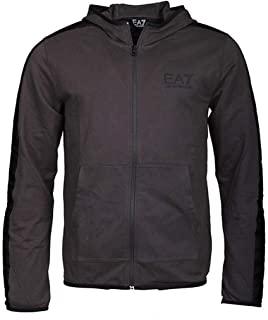 Mens Lightweight Cotton Full-Zip Hoodie with Taping 3GPM22