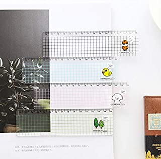 مساطر - 15 سم كاواي الحيوان شفاف مسطرة بلاستيك شبكة بسيطة مسطرة تعلم القرطاسية لوازم الرسم الطلاب مكتب العناصر ()