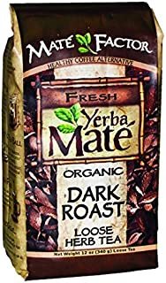 Certified Organic Yerba Mate - Dark Roast 12 oz. loose tea - (Pack of 3)