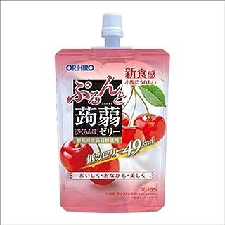 Orihiro Purun To Konnyaku Jelly Cherry Pouch, Cherry, 130 g