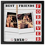 Instant Inspirations Best Friends Forever Picture Frame 4x6 or 5x7 Cleverly Designed Clip Photo Frame. Fits up to 7x7. Awesome Present for Your BFF.