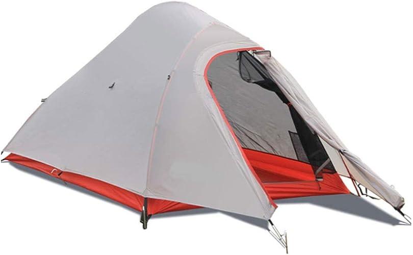 SXY888 Tente Double de Camping en Plein air, Aluminium imperméable à l'eau de Double Couche de Silicium Enduit en Nylon léger Superbe de tente-215  135  105cm