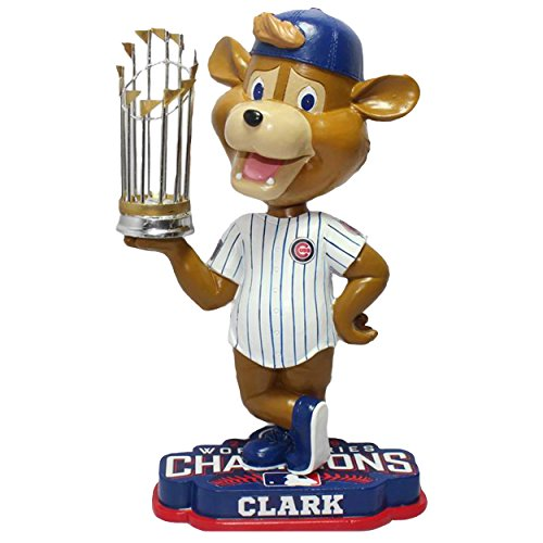 "FOCO MLB Chicago Cubs 2016 World Series Champions Mascot 8"" Bobble, Team Color, One Size"