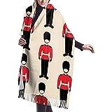 Brave Har Bufanda Inglaterra Soldado Guardias Mujer Casual Cachemira Mantón Abrigos Invierno Bufanda grande