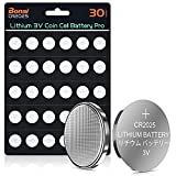 BONAI CR2025 3v Lithium Battery Coin Cell Batteries Premium Button Battery Long Lasting for Keyfob Key, Remotes Control, Watches (5-Year Shelf Life) 30 Count