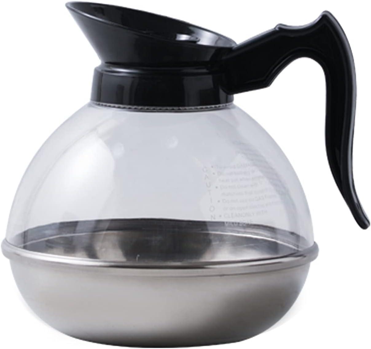 Xu Yuan Jia-Shop Cafeteras 1800 ml de café Caldera de Acero Inoxidable Cafetera Máquina de la Prensa Francesa de café Doble Pared con Aislamiento Cafetera Jarra para Cafetera