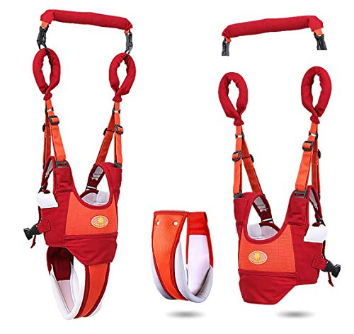 Baby Walker Toddler Walking Assistant Protective Belt,VIORKI Multifunction Breathable to Prevent Falling Learning Assistant,Help The Baby Safely Stand up and Walking (Orange)