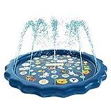 Prendi un bagno: rilassati dal calore con la piscina gonfiabile per bambini dai 12 mesi in su. Apprezzate i momenti in cui i vostri figli stanno giocando sotto i rinfrescanti spruzzatori. Questo giocattolo estivo crea oceani pieni di avventure Spruzz...