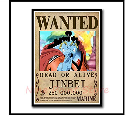 Mengyun Store Pintura En Lienzo Anime Poster One Piece Poster Luffy Wanted Carteles E Imprimir Imágenes Murales De Pared Pegatinas De Pared Sin Marco Hk1378 (50X70Cm)