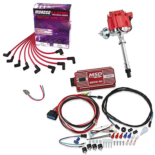 HEI Distributor Kit w/MSD 6AL 6425 Ignition Box for SBC/BBC