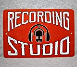 Metal Sign Recording Studio Sound Mixing Audio Engineer Music Technician Sound Control Room Aluminum Garage Man Cave Wall Plaque,Vintage Metal Signs Tin Plaque Wall Art Poster 12'x8'