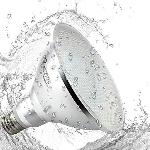Pack of 2 PAR38 E27 15W LED Reflektorlampe Warmweiß 3000K wasserdicht IP65 180 Grad Nicht dimmbar - für Gartenspots Gartenstrahler Gartenspieße Erdspießstrahler aussen