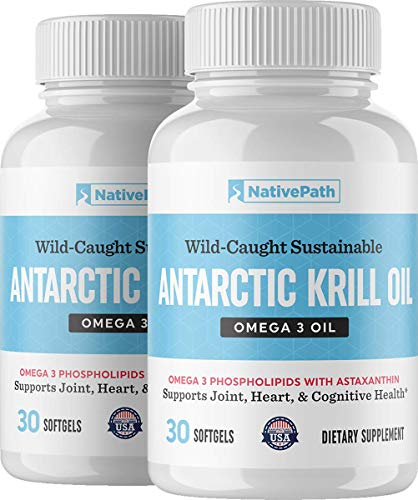 NativePath: Antarctic Krill Oil - 1, 2 or 3 Packs - 60 Softgels per Pack - Pure Source of Omega-3 Fatty Acids, DHA and EPA - Doctor-Formulated for Immunity, Mood, Memory, Heart Health - No Fishy Taste