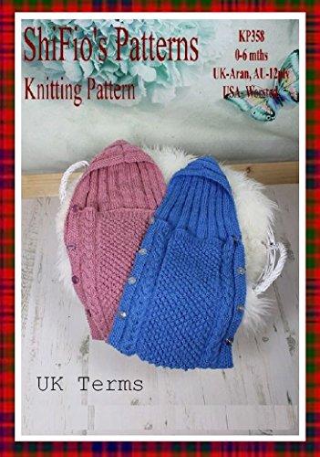knitting pattern - KP358 - Baby sleeping bag - 0-6mths - UK Terminology (English Edition)