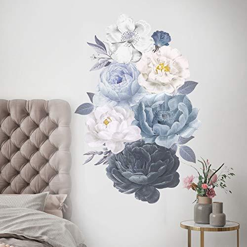 Planta peonía acuarela flor pegatinas de pared sala de estar dormitorio estudio fondo decoración de la pared vinilo tatuajes de pared decoración del hogar