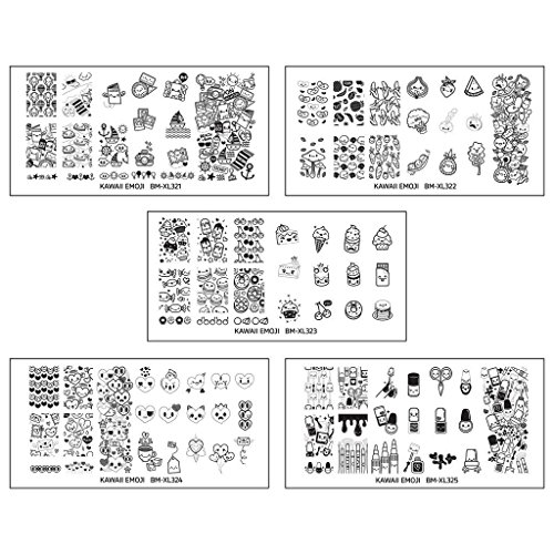 Bundle Monster Nail Art Nailart Polish Stamp Stamping Manicure Image Plates Accessories Set Kit 25pc