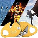 Liukouu Dispositivo de frenado automático Descensor Stop Lanyard Outdoor Zipline Grab, Amarillo Descensor de Escalada de 11-12.5 mm, Montañismo para protección contra Incendios de ingeniería de