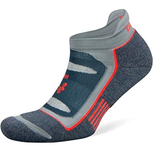 Balega Blister Resist No Show Socks For Men and Women (1 Pair), Legion Blue/Grey, Large