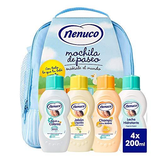 Nenuco Pack Regalo Bebé Mochila de Paseo Azul 4 x 200ml con...