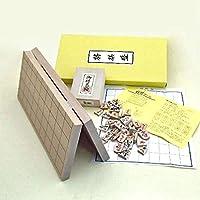 木製将棋セット 山形天童本つげ彫駒根付つき 新桂7号折将棋盤と優良押将棋駒