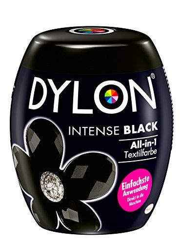 DYLON Intense Black All-in-1 Textilfarbe (für frische und intensive Farben) 1 x 350 g