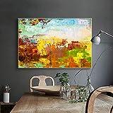 SADHAF Pintura al óleo colorida abstracta e imagen mural impresa en lienzo de arte Sala de pintura de lienzo decoración del hogar A3 50x70cm
