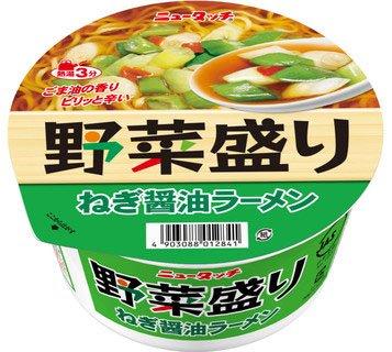 ニュータッチ 野菜盛り ねぎ醤油ラーメン 94g 1ケース(12食入)