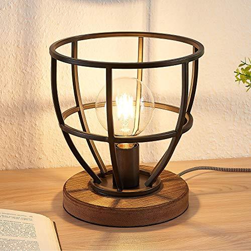 Lindby Tischlampe 'Maximilia' (Retro, Vintage, Antik) in Schwarz aus Metall u.a. für Wohnzimmer & Esszimmer (1 flammig, E27, A++) - Tischleuchte, Schreibtischlampe, Nachttischlampe, Wohnzimmerlampe