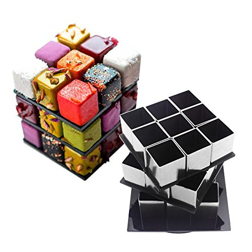 AK ART KITCHENWARE Mousse Cake Rings Stainless Steel Baking Molds Pastry Tools Bakeware Candy Dessert Tools Chocolate & Sweet Molds Cake Decorating Tools