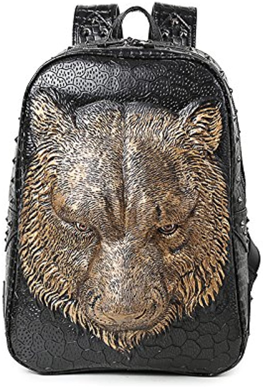 Alternative Persnlichkeit Coole Schulterackpack-Tasche Mnnliche Und Weibliche Studenten Pu Schultasche Computer-Reisetasche Tier Liudin Tasche Street Outdoor-geschftsmode das A