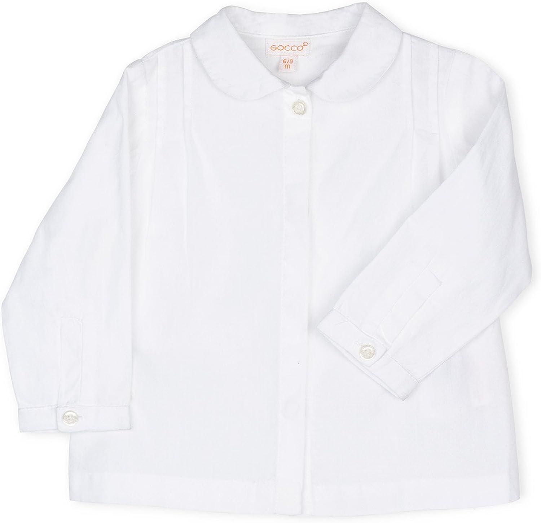 Gocco Camisa Cuello Bebe, Blanco, 3-6 Meses para Bebés ...