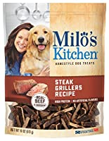 Milo's Kitchen Steak Grillers Beef Recipe with Angus Steak Dog Treats, 18-Ounce by Milo's Kitchen