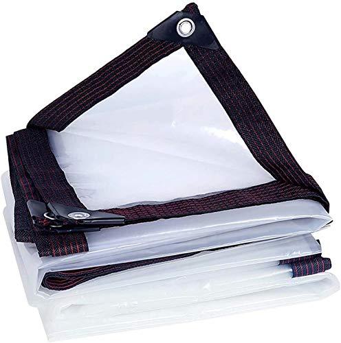 LYYK Lona Impermeable Transparente Multiusos 6x8m 140g/m², Resistente a Las heladas, Duradero y Resistente, Anti-UV, Cubierta De Hoja De Pérgola Gruesa para Muebles, Jardín, Coche, pergolas