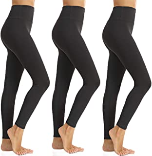 ZOOSIXX High Waisted Leggings for Women - Tummy Control Soft Leggings Opaque Slim