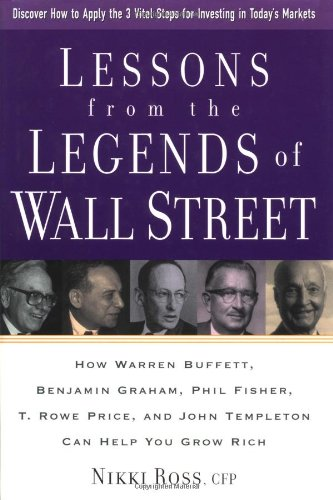Lessons from the Legends of Wall Street : How Warren Buffett, Benjamin Graham, Phil Fisher, T. Rowe Price, and John Templeton Can Help You Grow Rich