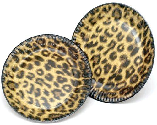 10 Pappteller im * LEOPARD * für Party und Geburtstag von DH-Konzept // Teller Partyteller Party Fete Mottoparty Tiere Leo Safari Dschungel