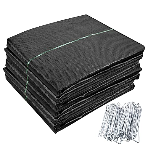 OK5STAR 3ftx164ft Garden Weed Barrier Landscape Fabric with 100 pcs Garden Pins Heavy Duty Weed Control Weed Block Gardening Mat Ground Cover Weed Cloth Geotextile Fabric for Garden