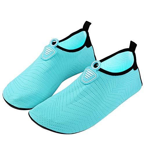Zwemschoenen voor heren en dames, strandduikschoenen, snorkelschoenen 11.5 Blauw