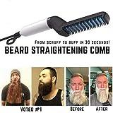 Ambility Men Quick Beard Straightener Comb Multifonctionnel Cheveux Curling Curler Voir Cap Outil