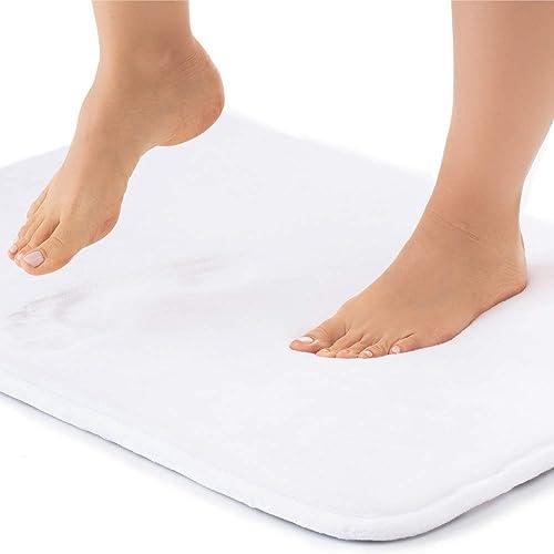 Gorilla Grip Thick Memory Foam Bath Rug, Soft Absorbent Velvet Floor Mats, 36x24 Bathroom Mat, Machine Washable, Quic...