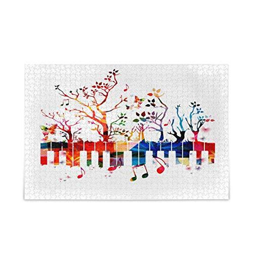 Puzzle 500 Piezas/Puzzle 1000 Piezas, Rainbow Music Note Tree Rompecabezas para Adultos 500 Piezas Juegos de Rompecabezas educativos Juguetes para familias Adolescentes