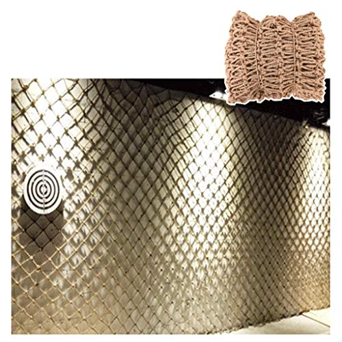 ZHANGYUQI Anti-Fall Net Stair Protection Net, Garden Netting Net Lights Accessories Nets Photo Wall DIY Bar Cafe Bookstore Decoration 6mm/10cm Multiple Sizes 12MM/15CM (Size : 6 * 10M(19.7 * 32.8ft))