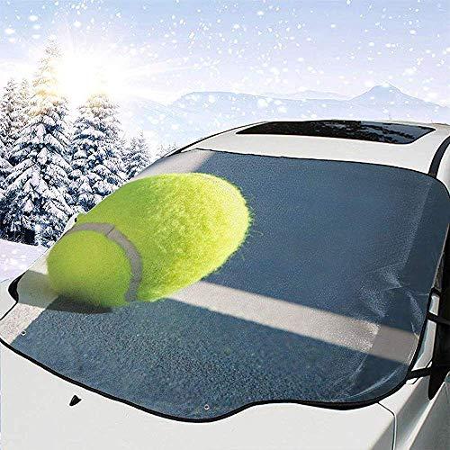 C-WANG Tennis Ball On Line Windschutzscheibe Schneedecke Magnetische große Autoplanen mit Materialschutz - Passend für jedes Auto