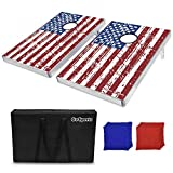 Best Cornhole Game Sets - GoSports American Flag CornHole Bean Bag Toss Game Review